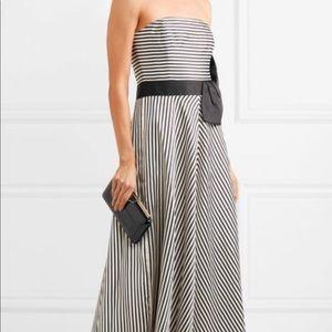 New Halston Heritage striped strapless gown